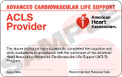 ACLS Skills Check MUST COMPLETE ONLINE CLASS FIRST