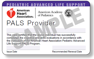 Pediatric Advanced Life Support Class
